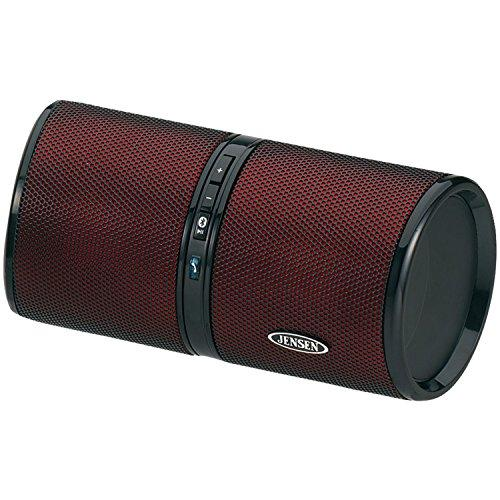 JENSEN JENSMPS622RR Jensen SMPS-622-R Bluetooth Wireless Rechargeable Stereo Speaker