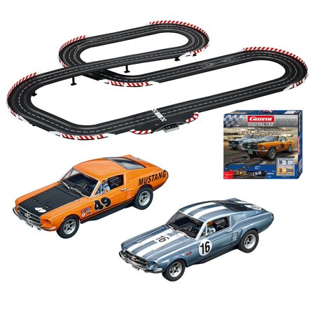 Carrera Digital 132 Ford Fastbacks Slot Car Race Set featuring Two Ford  Mustang GT 1:32 Scale Race Cars