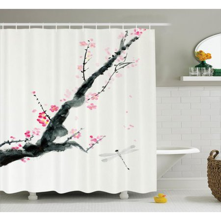 Bloomsbury Market Bellingham Cherry Sakura Tree Single Shower Curtain