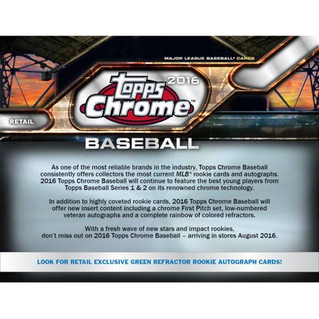 2016 Topps Chrome Baseball Value Box