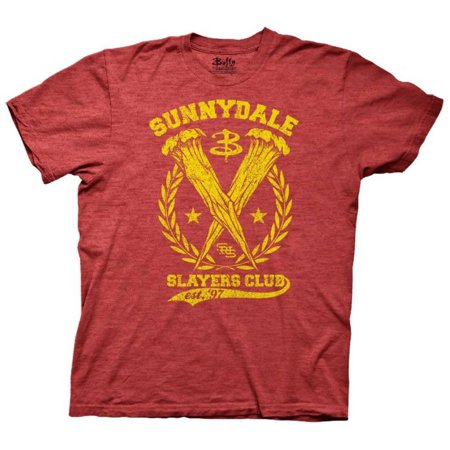 Buffy The Vampire Slayer - Sunnydale Slayers Club Apparel T-Shirt - Red](Vampire Clothes For Men)