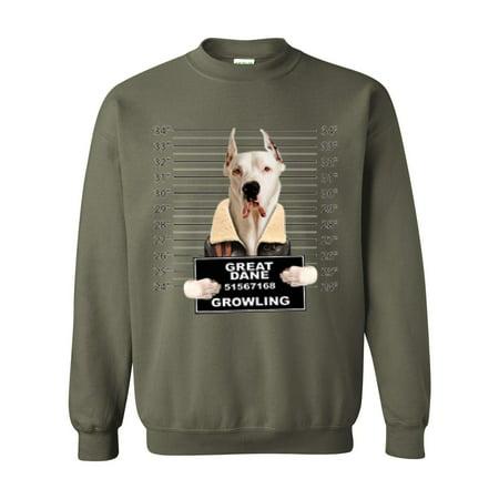 Great Dane Mugshot Birthday Christmas Humor Gift Match W Dog Food ...