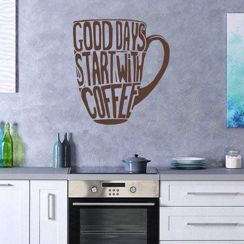 Winston Porter Garlock Good Days Coffee Wall Decal