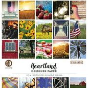 "Colorbok 12""x12"" Heartland Designer Paper, 50 Count"