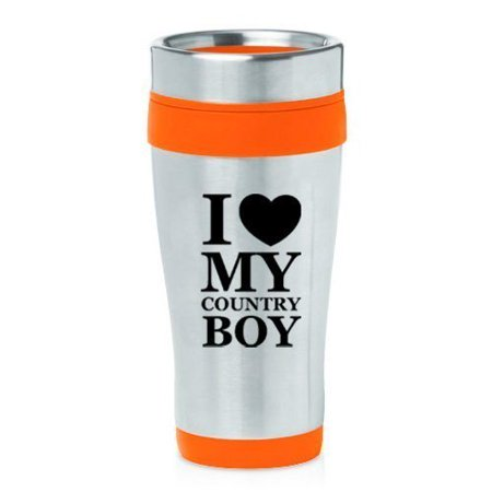 16oz Insulated Stainless Steel Travel Mug I Love My Country Boy