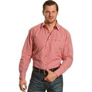 Wrangler Men's George Strait Red/White Plaid Long Sleeve Shirt Big And Tall - Mgsr386-Tll