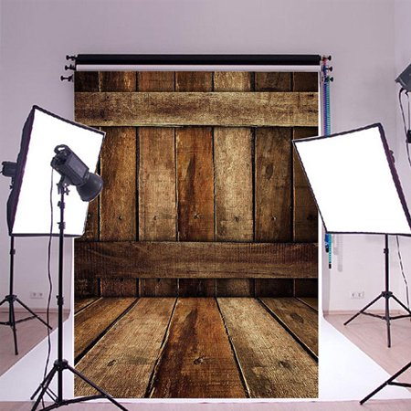 NK HOME Studio Photo Video Photography Backdrops 5x7ft Rugged Wood Fence & Planks  Printed Vinyl Fabric Background Screen Props (Fence Backdrop)