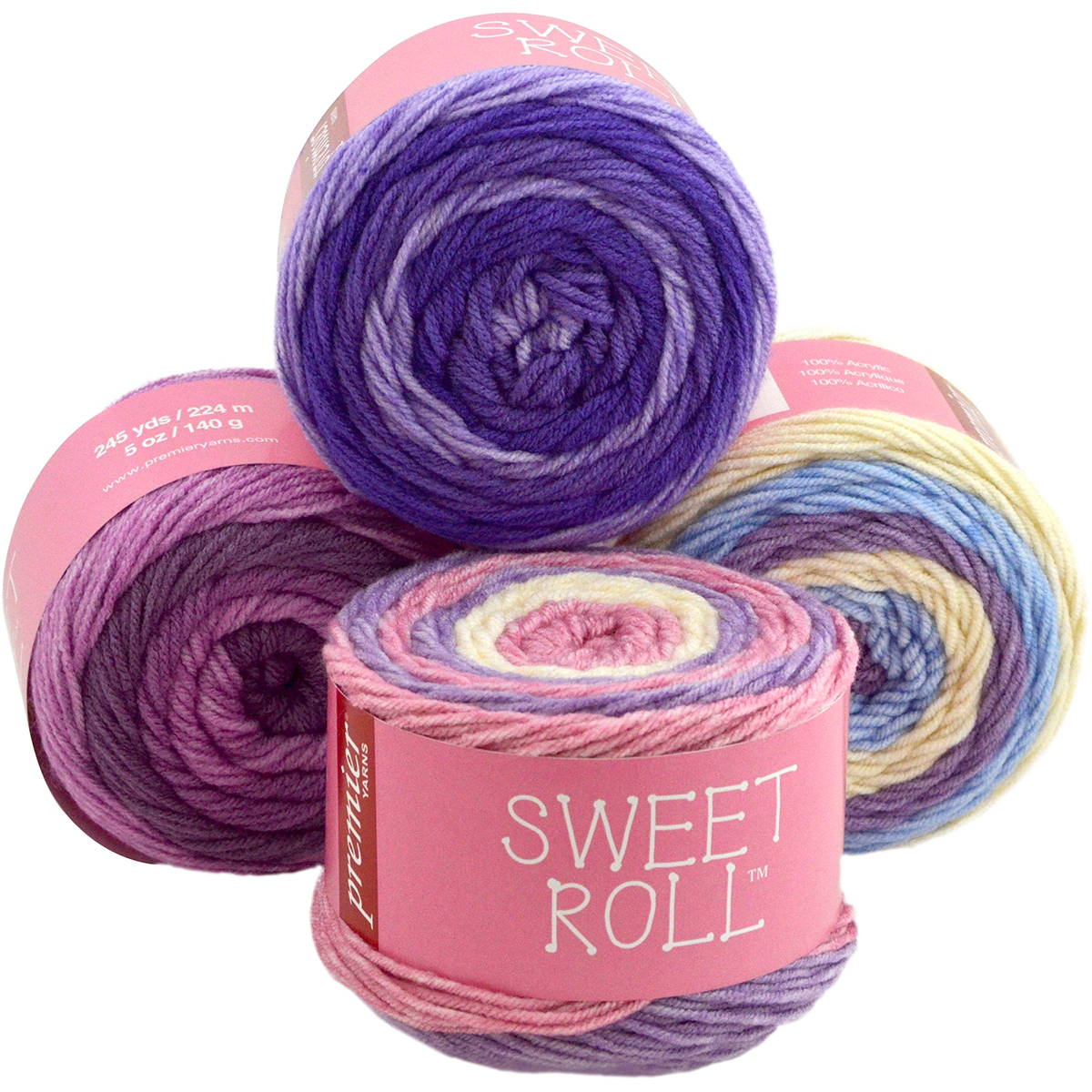 Premier Yarns Sweet Roll Yarn Grape Swirl