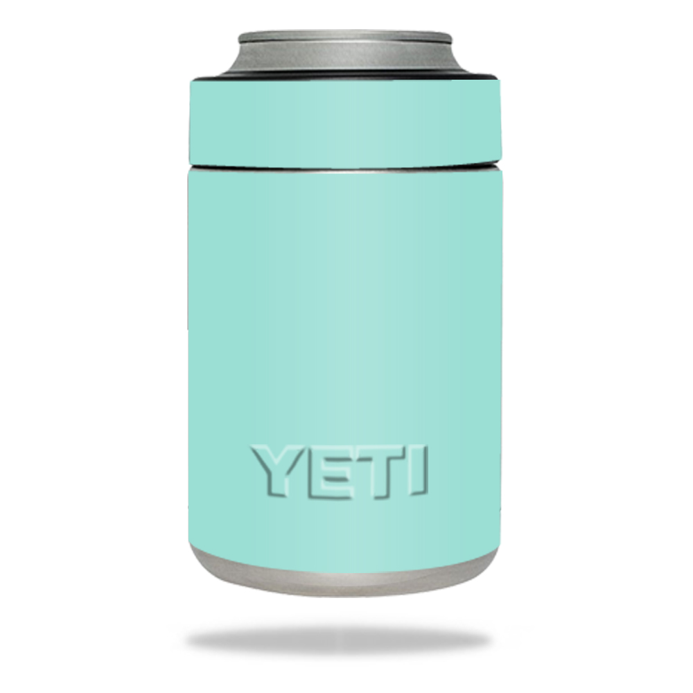 MightySkins Protective Vinyl Skin Decal for YETI Rambler Colster wrap cover sticker skins Solid Seafoam