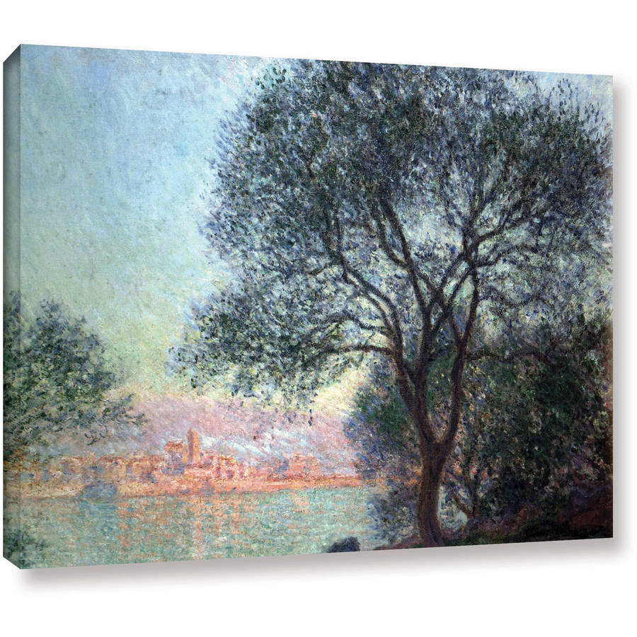 "Claude Monet ""Antibbes"" Wrapped Canvas Art"