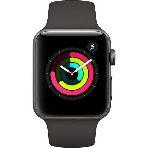 Refurbished Watch Series 3 42mm Apple GPS Only Sport Space Gray Case...