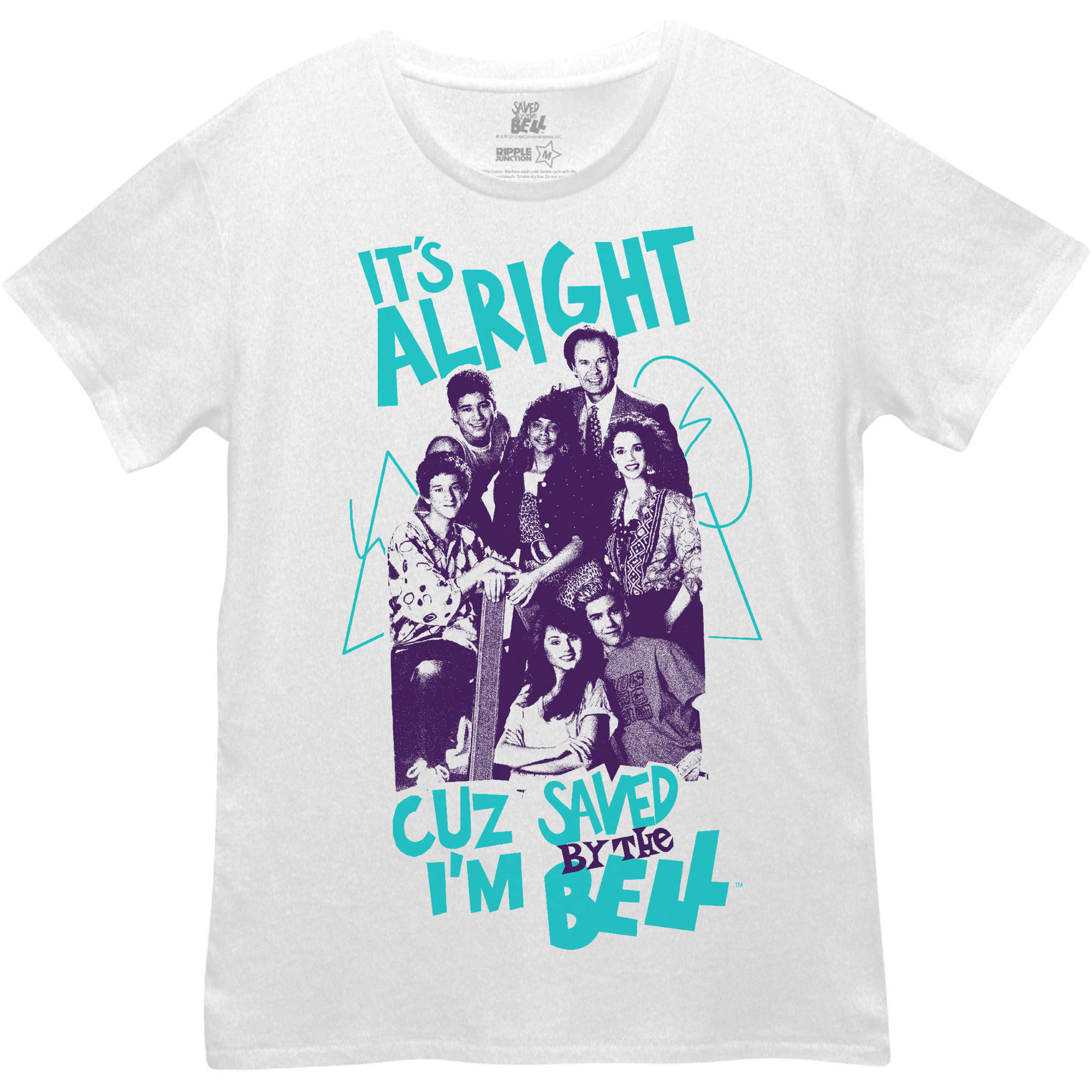 """Juniors' """"Saved By The Bell"""" Boyfriend Tee"""