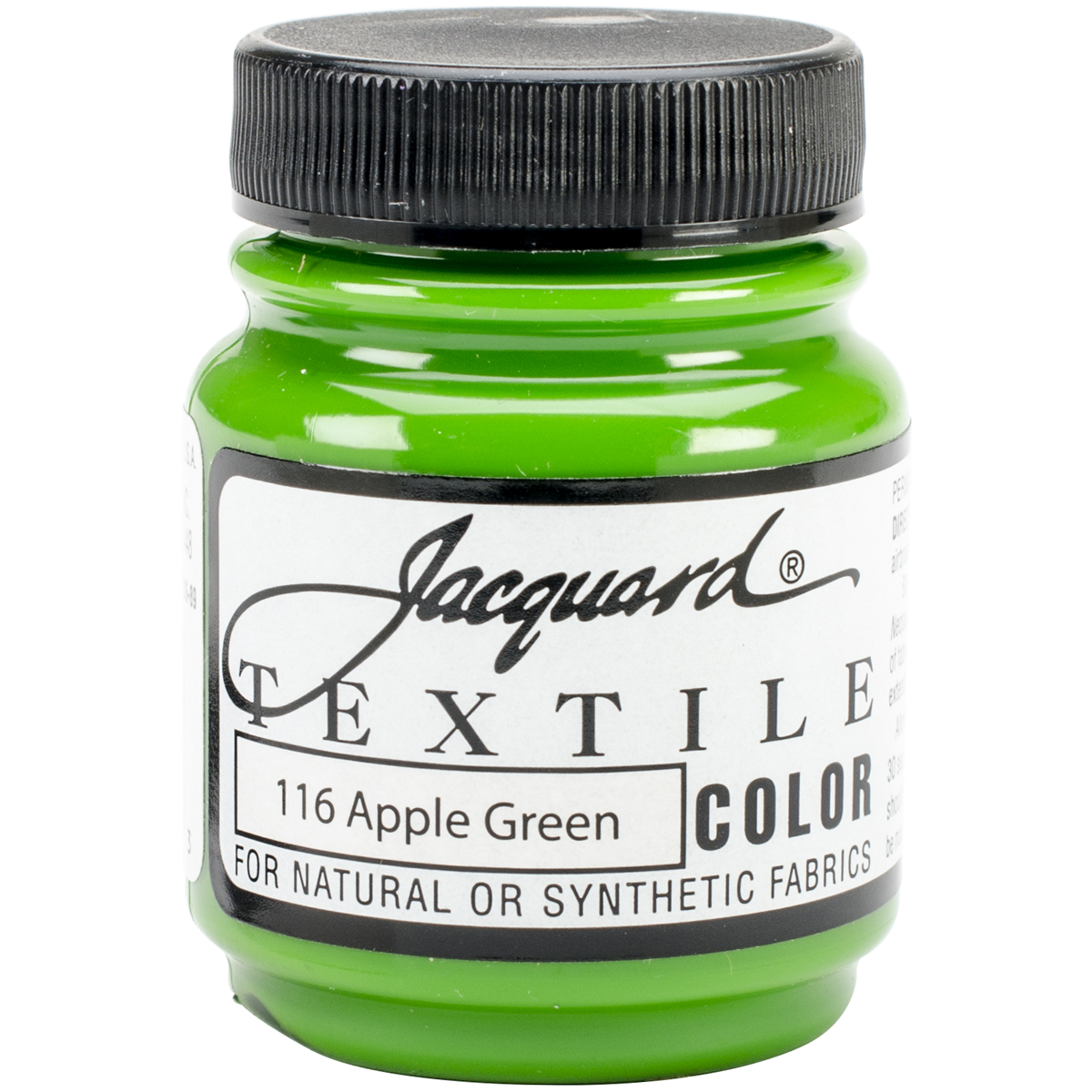 Jacquard Products Textile Color Fabric Paint 2.25-Ounce, Apple Green Multi-Colored