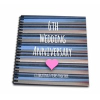 3dRose 6th Wedding Anniversary gift - Iron celebrating 6 years together - sixth anniversaries six yrs - Mini Notepad, 4 by 4-inch