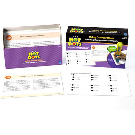 Hot Dots Reading Comprehension Cards, Using Context Clues