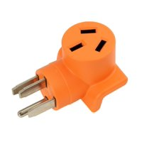 AC WORKS [WD14501050] 10-50 Welder Adapter NEMA 14-50P 50Amp RV/ Range/ Generator Male Plug to 10-50R Welder outlet Adapter -