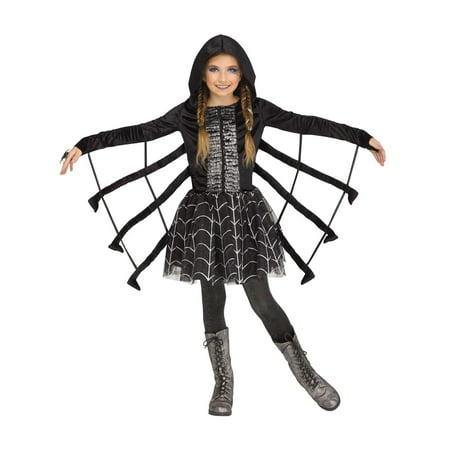 Black Pug Spider Costume (Sparkling Spider Girl's)