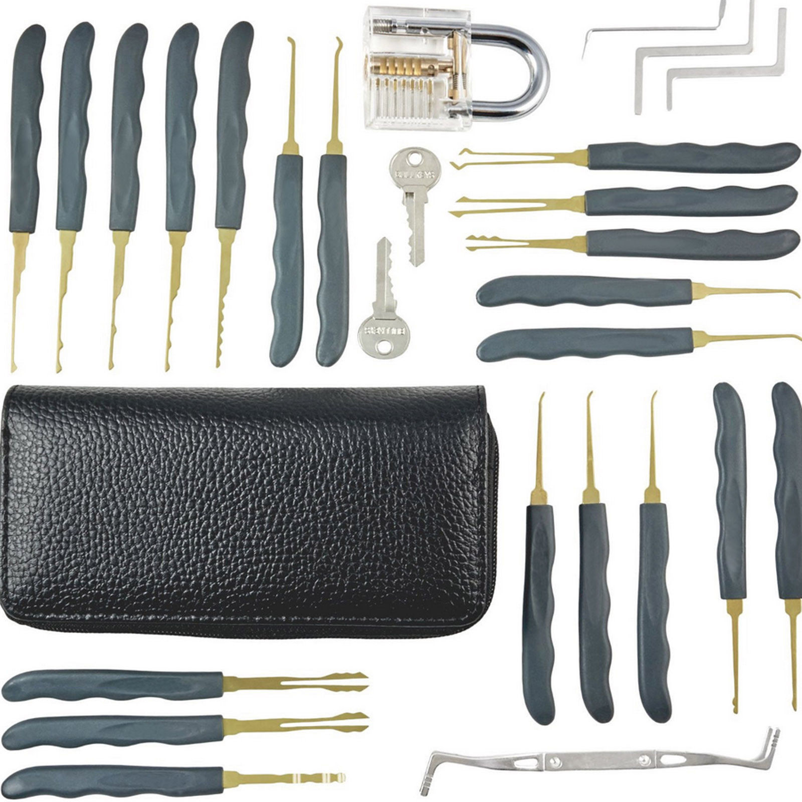 24pcs lock pick training set locksmith practice train skill key