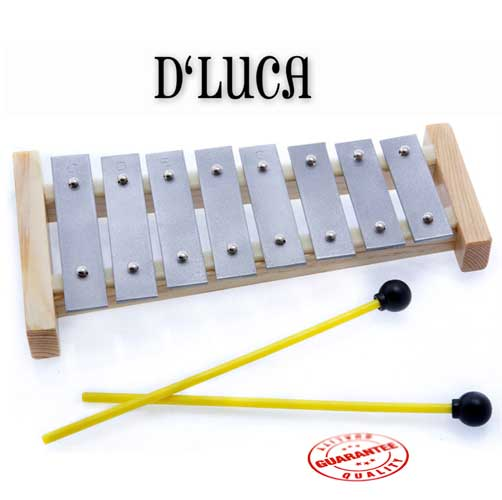 D'Luca 8 Notes Children Xylophone Glockenspiels with Music Cards by D'Luca