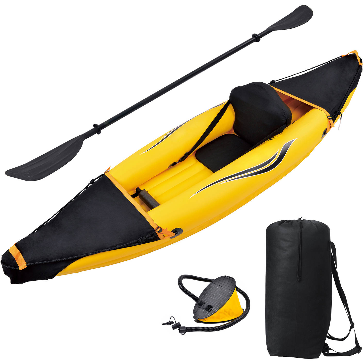 Blue Wave Sports Nomad 1-Person Inflatable Kayak, Gold by Blue Wave Products