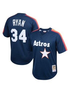 Nolan Ryan Houston Astros Mitchell & Ness Youth Cooperstown Collection Mesh Batting Practice Jersey - Navy