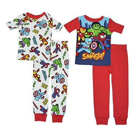 Marvel Boys Heroes In Pixels 2 Cotton Sleepwear Set (10, Multicolor) - Pj For Boys