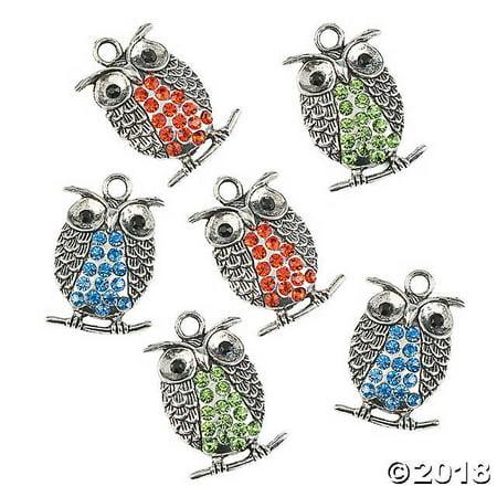 Rhinestone Owl Charms (Origami Owl Valentine Charms)
