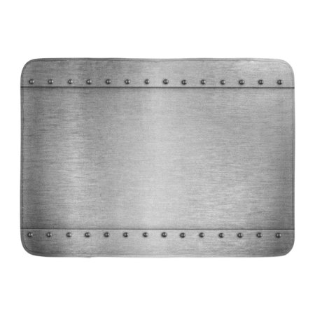 SIDONKU Gray Sheet Silver Armour Metal Brushed Plate Steel Armor Abstract Doormat Floor Rug Bath Mat 23.6x15.7 inch