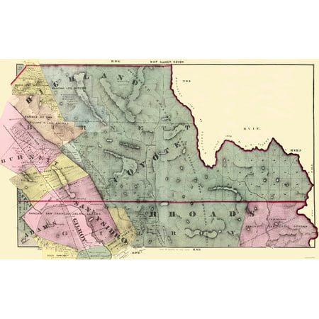 Old County Map - Santa Clara, South Central California - Thomas 1876 ...