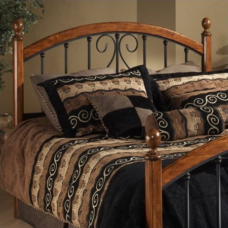 Hillsdale Burton Way Spindle Headboard in Cherry and Black-King - image 2 of 2