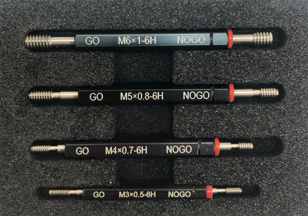 H6 Metric Thread Plug Gage Set of 7 PC Double End Go-No Go ANSI Taper Lock