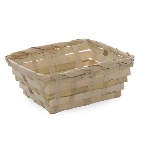 Miniature Natural Bamboo Basket 5in