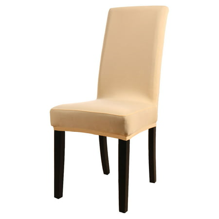 - 4Pcs Stretch Spandex Short  Slipcover Dining Chair Cover