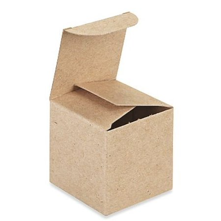 A1BakerySupplies Kraft Gift Boxes, 4x 4 x 4 Inch, Brown, Pack of - Kraft Boxes