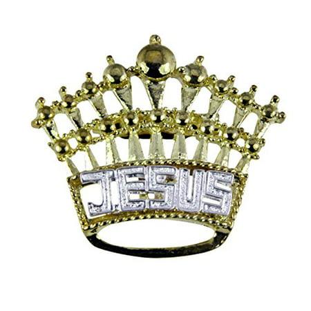 Jesus Crown Brooch Lapel Pin King of Kings Christian Religious