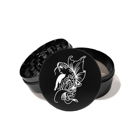 - Japanese Koi Fish Tattoo - Laser Etched Grinder