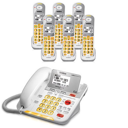 Uniden D3098-6 Amplified Phone w/ 5 Extra Handsets & Bright Visual Ringer