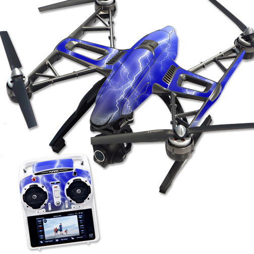 Skin Decal Wrap for Yuneec Q500 & Q500+ Quadcopter Drone Lightning Storm