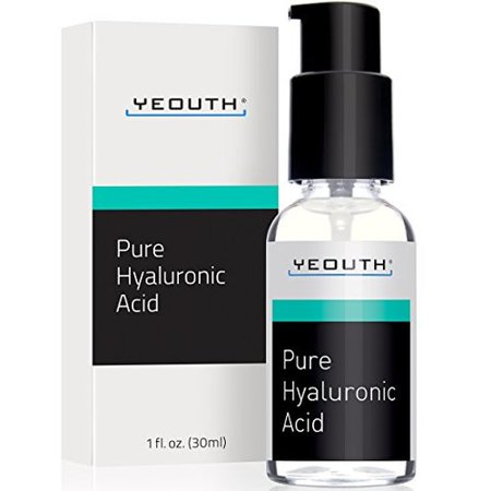 YEOUTH 100% Pure Hyaluronic Acid Serum for Face - All Natural Moisturizer Serum, 1 fl. oz.