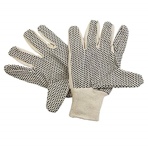 LARGE 24 PAIRS STANDARD STRING KNIT W PVC DOTS ON BOTH SIDES WORK GLOVE SIZE
