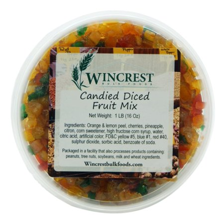 Candied Fruit Mix (Special Mello) ~ 1 Pound Tub Candied Orange Peel Chocolate