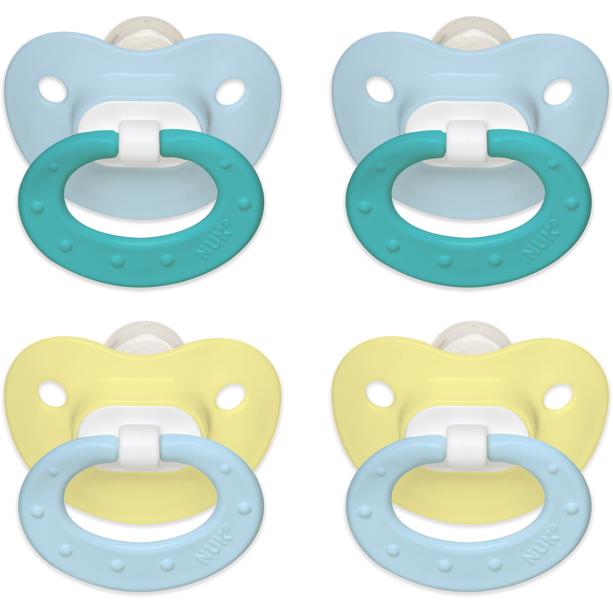 NUK Juicy Orthodontic Pacifiers, Set of 4, Size 1, Boy