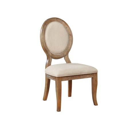Powell Lenoir Dining Side Chair, Set of 2, Wirebrushed Oak ()