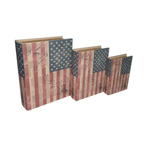 Cheungs Cheungs FP-3290-3US Book Boxes US Flag (Set of 3)