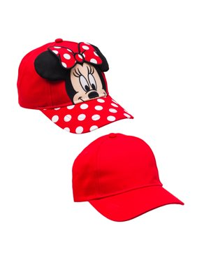 Girl's Minnie Mouse Baseball Cap 2-pack