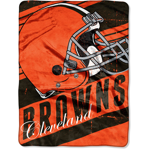 "NFL Micro Raschel Deep Slant 50"" x 60"" Throw, Cleveland Browns"