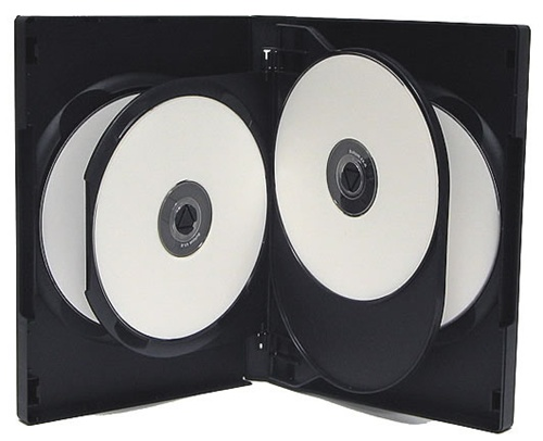 CheckOutStore 25 Black 5 Disc DVD Cases by