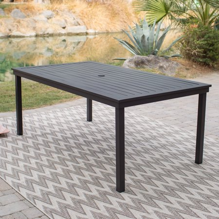 Coral Coast Wimberley 74 x 42 in. Rectangle Aluminum Slat-Top Patio Dining Table