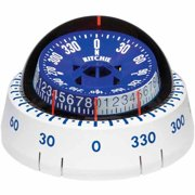 Ritchie XP-98W X-Port Tactician Surface Mount Compass, White with Blue Dial