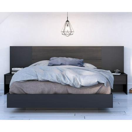 Nexera Opaci Plank Effect Platform Bed Headboard Extension